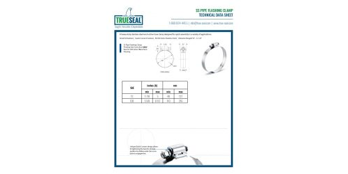 SS Pipe Flashing Clamp - TDS